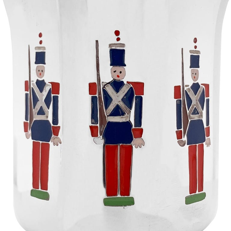Tiffany & Co. Toy Soldiers Sterling Baby Cup  For Sale 1