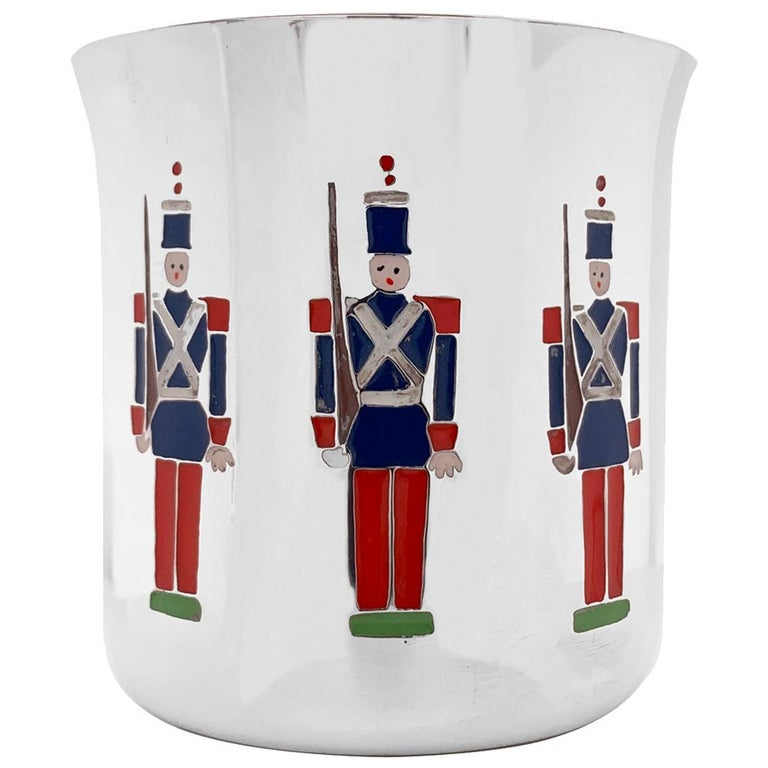 Tiffany & Co. Toy Soldiers Sterling Baby Cup  For Sale