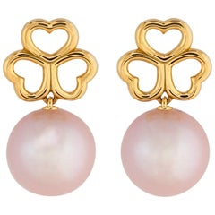 Tiffany & Co. Triple Heart and Pearl Drop Earrings
