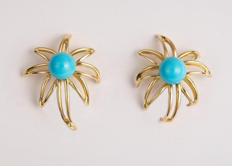Contemporary Tiffany & Co. Turquoise Fireworks Earrings For Sale