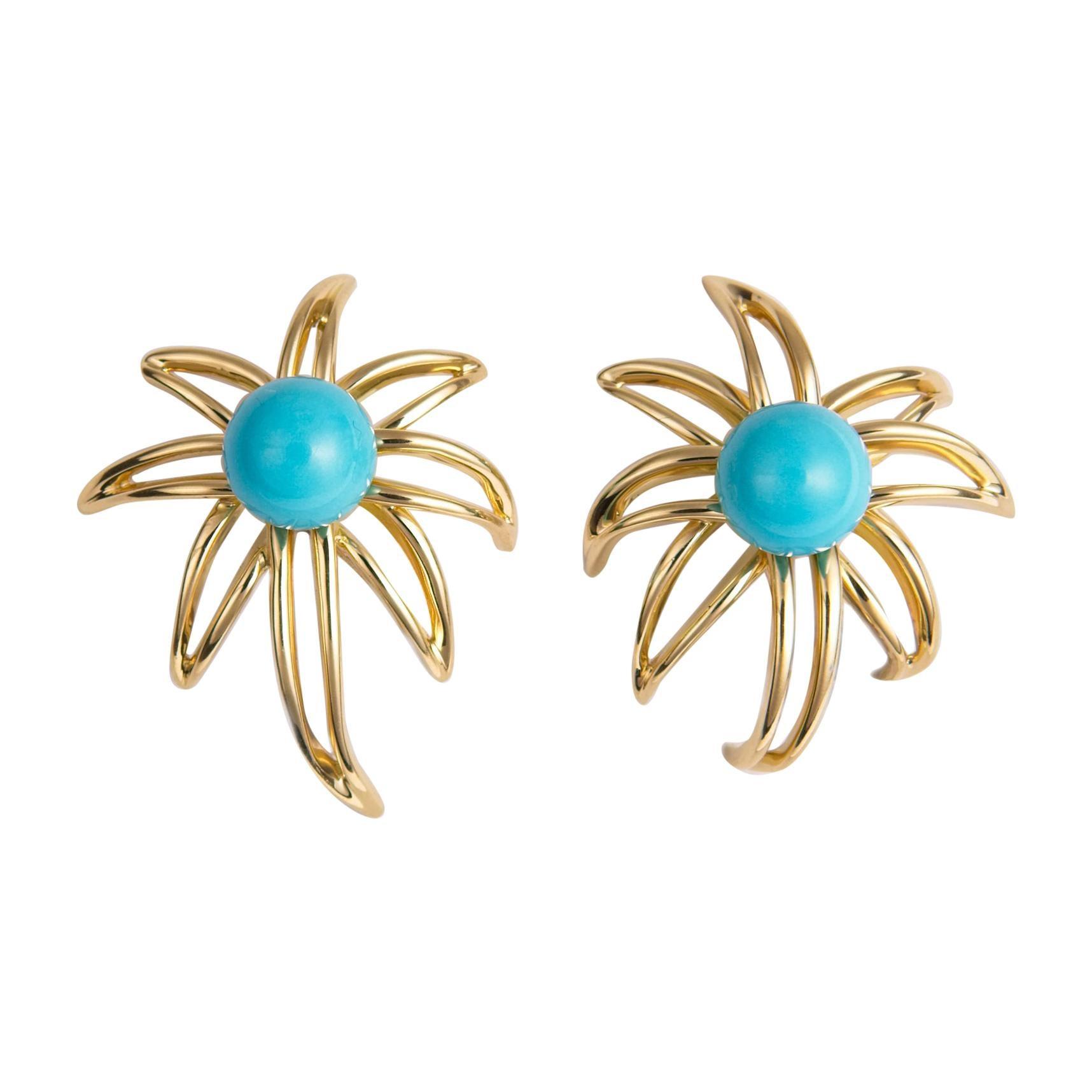 Tiffany & Co. Turquoise Fireworks Earrings