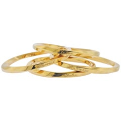 Tiffany & Co. Twisted Bangle Gold Bracelet Set of 4