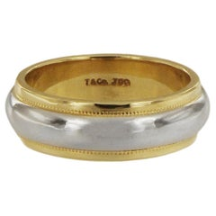 Tiffany & Co. Two-Tone Gold Milgrain Band Ring