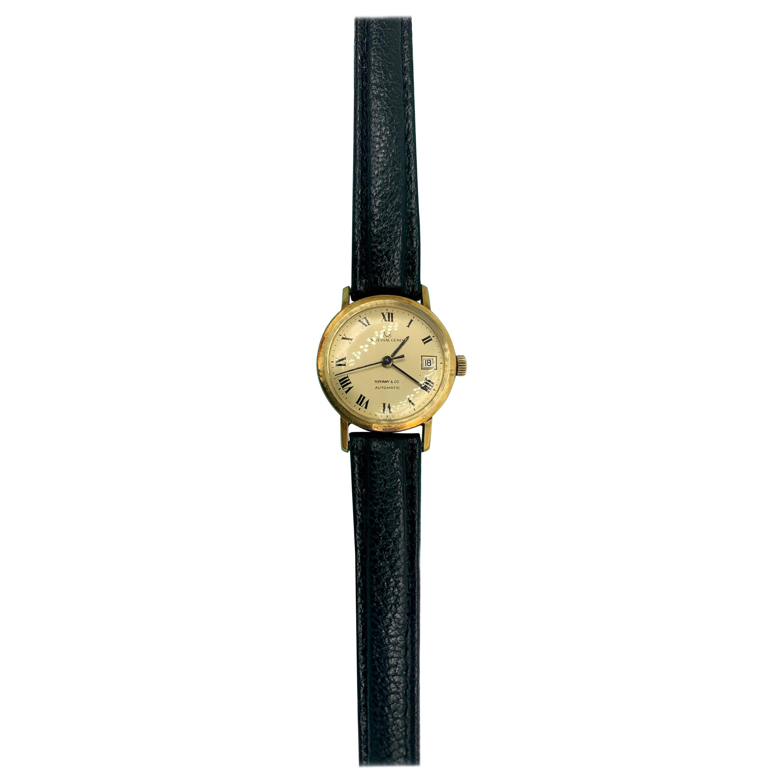 Tiffany & Co. Universal Geneve Ladies Wristwatch 18 Karat Gold Midcentury
