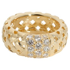 Tiffany & Co. Vannerie Basket Weave Diamond Ring in 18K Yellow Gold 0.70 CTW