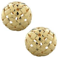 Tiffany & Co. Vannerie Basket Weave Stud Earrings