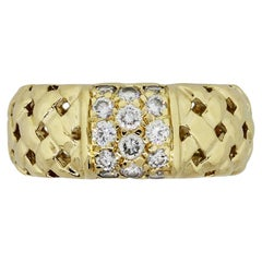 Tiffany & Co. Vannerie Collection Diamond Woven Basket Diamond Ring