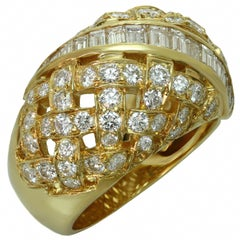 Tiffany & Co. Vannerie Diamond Yellow Gold Ring