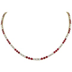 Tiffany & Co. Victoria Collection Ruby Diamond Necklace
