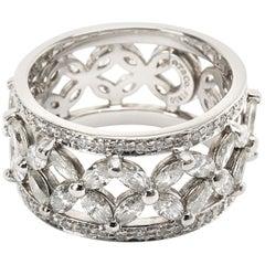 Tiffany & Co. Victoria Diamond Band in Platinum 2.12 Carat