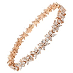 Tiffany & Co. Victoria Diamond Bracelet in 18 Karat Rose Gold 6.25 Carat
