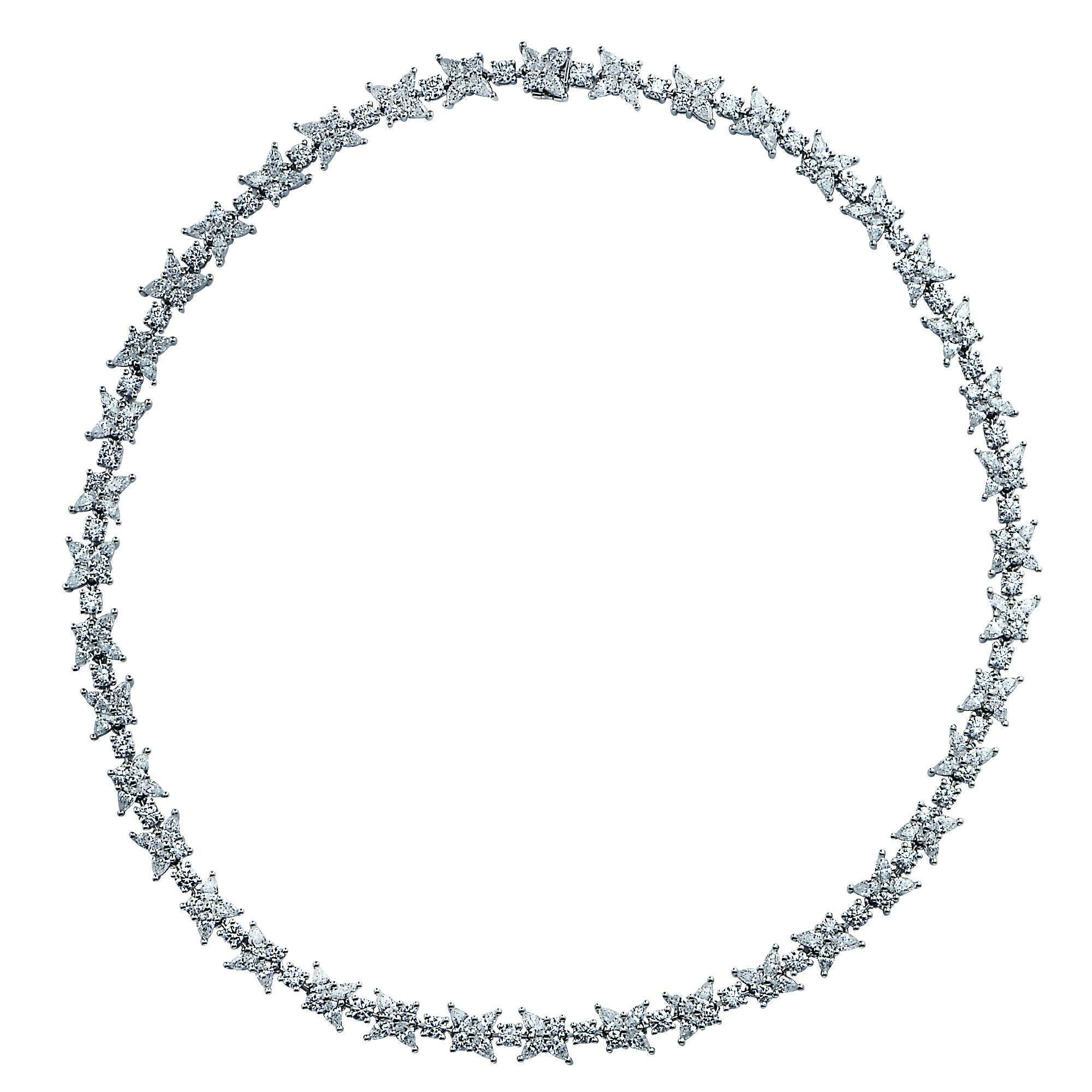 Tiffany & Co. Victoria Diamond Cluster Necklace