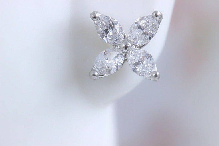 Tiffany And Co Victoria Diamond Earrings In Platinum 0 64
