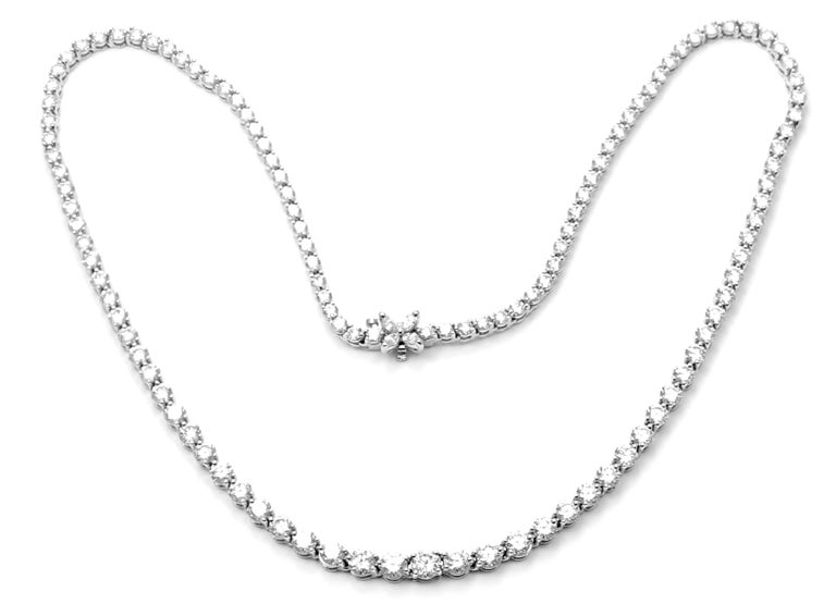 Tiffany & Co. Victoria Diamond Graduated Line Platinum Necklace For Sale 7