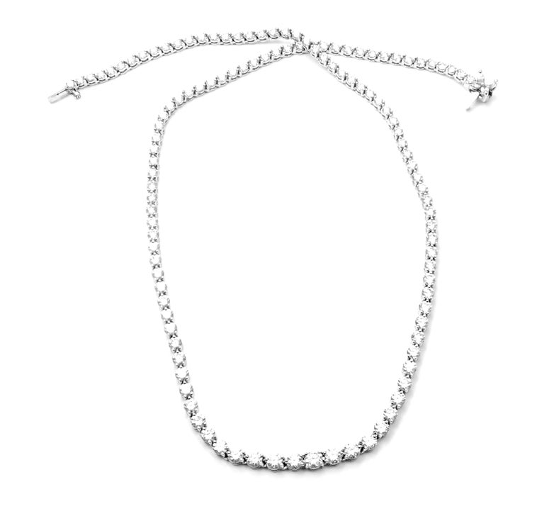 Tiffany & Co. Victoria Diamond Graduated Line Platinum Necklace For Sale 3