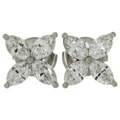 Tiffany & Co. Victoria Diamond Platinum Large Earrings