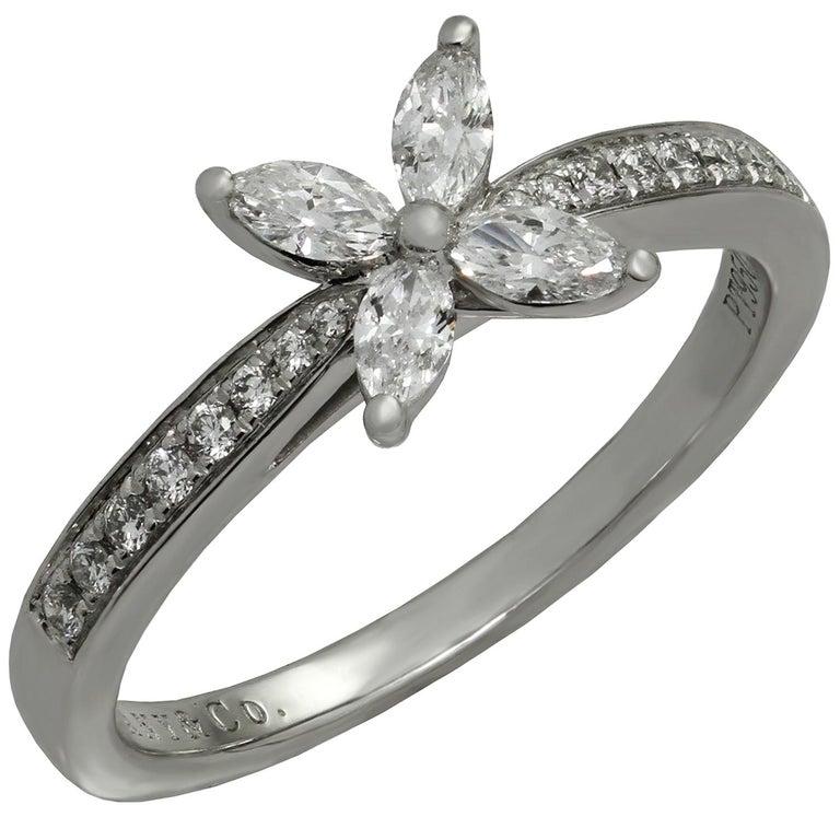 Tiffany & Co. Victoria Diamond Platinum Ring For Sale