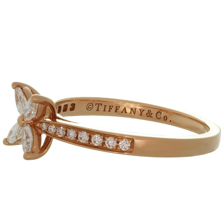 Tiffany & Co. Victoria Diamond Rose Gold Ring For Sale 1