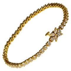 Tiffany & Co. Victoria Diamond Tennis Bracelet in 18k Yellow Gold