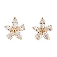 Tiffany & Co. Victoria Mixed Cluster Stud Earrings 18 Karat Gold and Diamonds