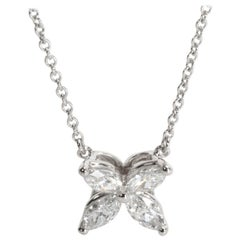 Tiffany & Co. Victoria Necklace with Marquise Diamonds in Platinum 0.46 Carat