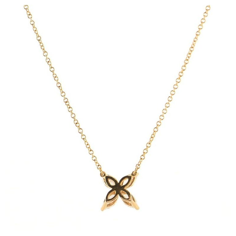 Tiffany & Co. Victoria Pendant Necklace 18K Rose Gold with Diamonds Medium In Good Condition For Sale In New York, NY