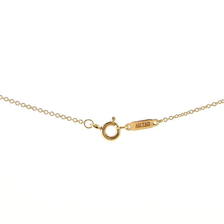 Women's or Men's Tiffany & Co. Victoria Pendant Necklace 18K Rose Gold with Diamonds Medium For Sale
