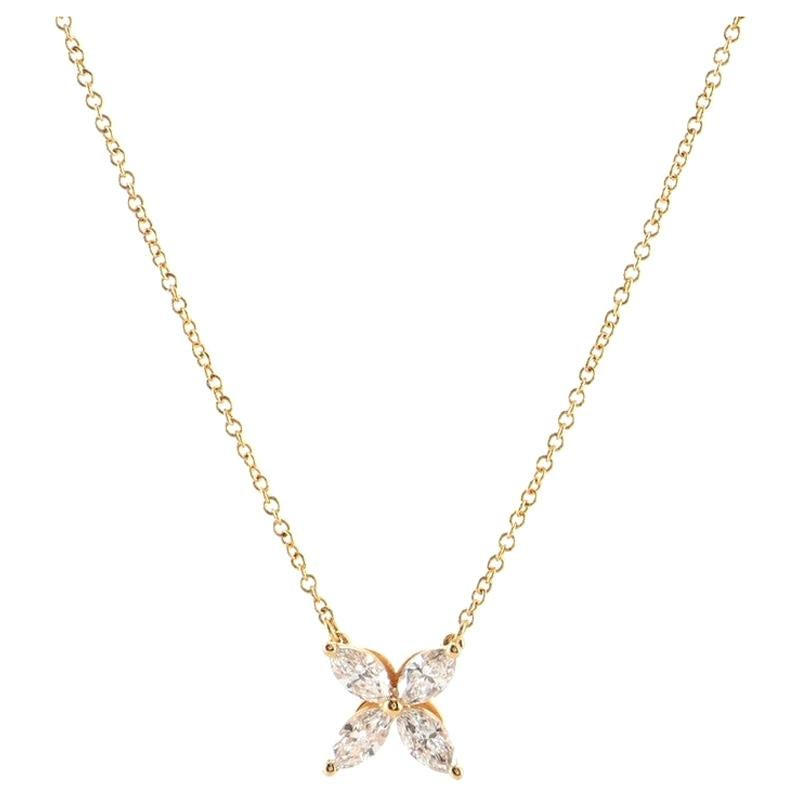 Tiffany & Co. Victoria Pendant Necklace 18K Rose Gold with Diamonds Medium