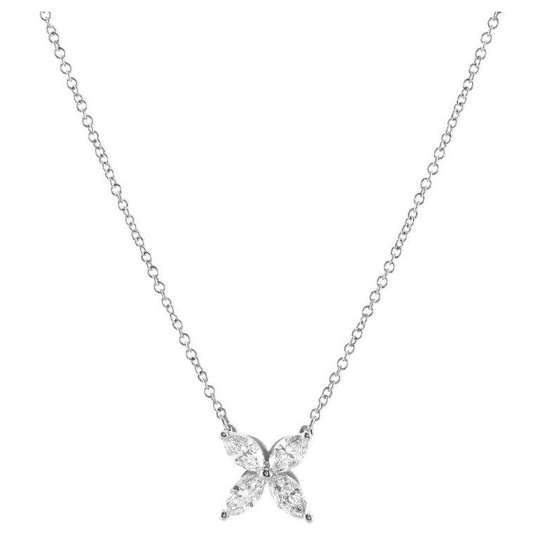 Tiffany & Co. Victoria Pendant Necklace Platinum with Diamonds Medium For Sale