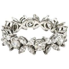 Tiffany & Co. 'Victoria' Platinum and Diamond Band Ring
