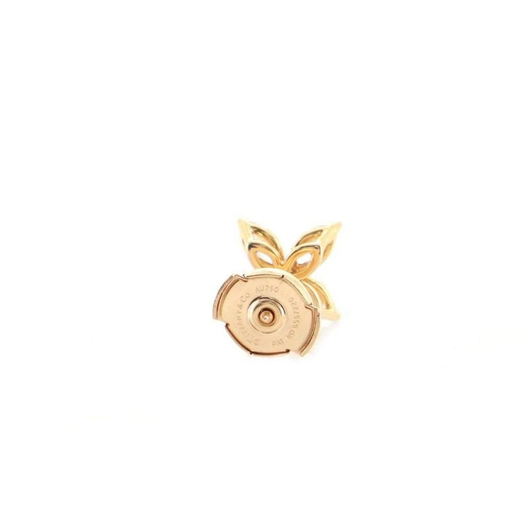 Women's or Men's Tiffany & Co. Victoria Stud Earrings 18k Rose Gold with Diamonds Medium For Sale