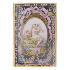 Tiffany & Co. Victorian Card Case with Woman & Cherubs '#J3882'