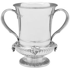 Tiffany & Co. Victorian Sterling Silver Wine Cooler with 1891 Date Mark