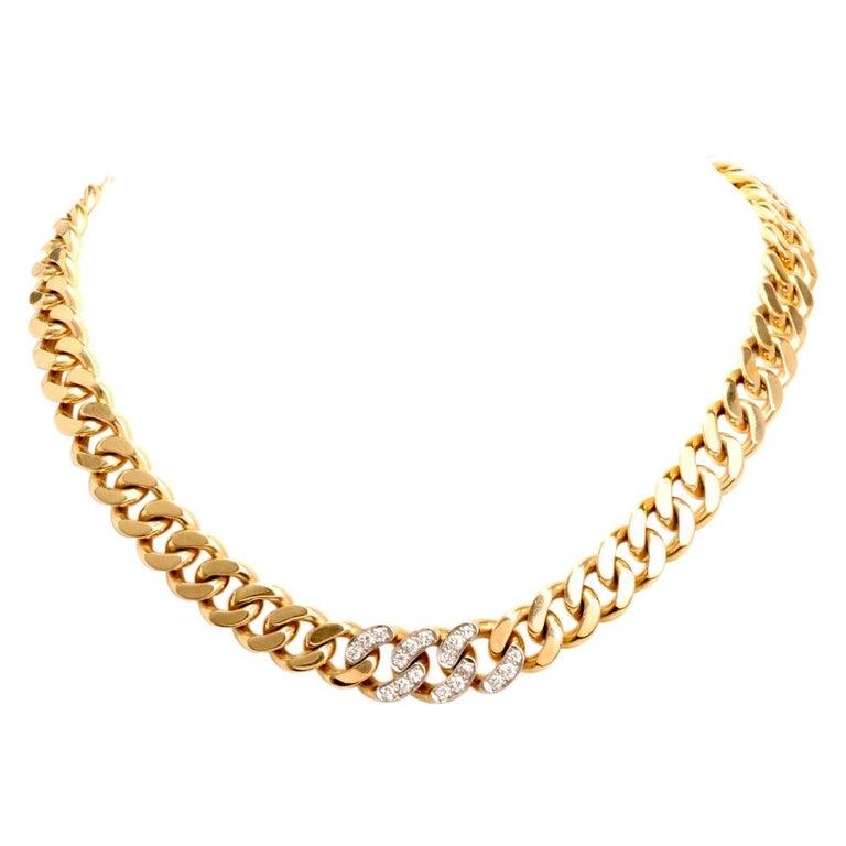 Tiffany & Co. Vintage 14 Karat Gold Link Choker Chain Necklace For Sale