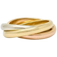 Tiffany & Co. Vintage 14 Karat Tri-Colored Gold Paloma Melody Rolling Band Ring