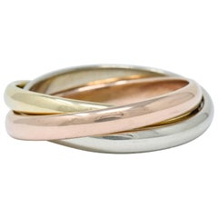 Tiffany & Co. Vintage 14 Karat Tri-Colored Gold Paloma's Melody Rolling Ring