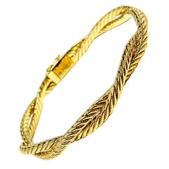 Tiffany & Co. Vintage 14 Karat Yellow Gold Braided Bracelet
