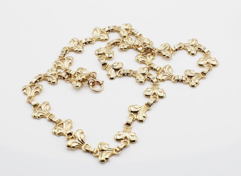 Retro Tiffany & Co. Vintage 14 Karat Yellow Gold Necklace For Sale
