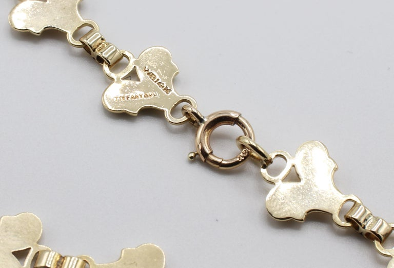 Women's Tiffany & Co. Vintage 14 Karat Yellow Gold Necklace For Sale