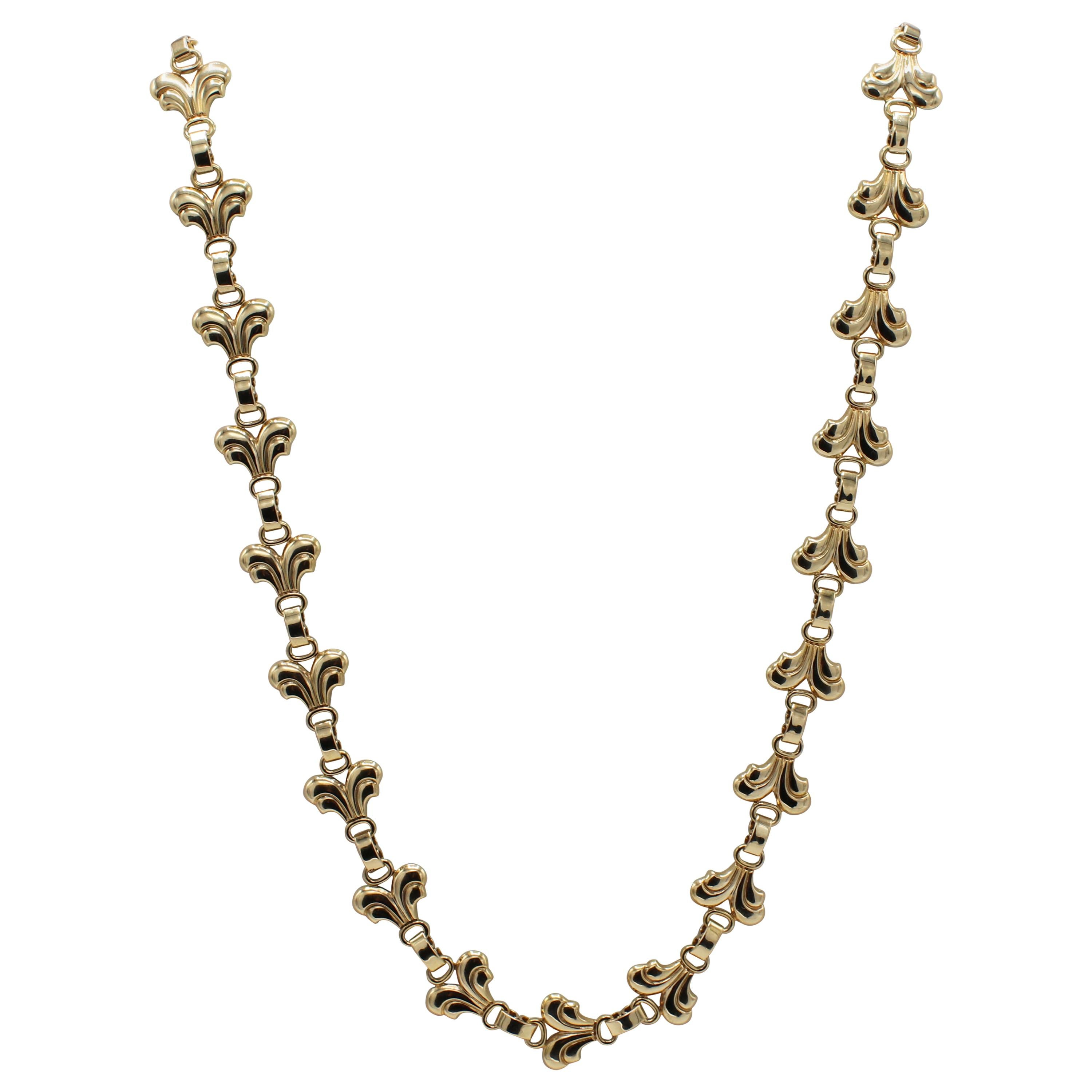 Tiffany & Co. Vintage 14 Karat Yellow Gold Necklace
