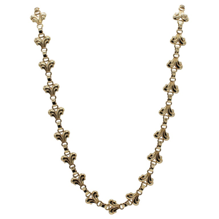 Tiffany & Co. Vintage 14 Karat Yellow Gold Necklace For Sale