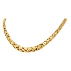 Tiffany & Co. Vintage 14 Karat Yellow Gold Wheat Chain Necklace