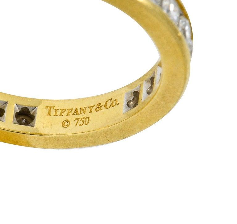 Contemporary Tiffany & Co. Vintage 1.50 Carat Diamond 18 Karat Gold Eternity Band Ring For Sale