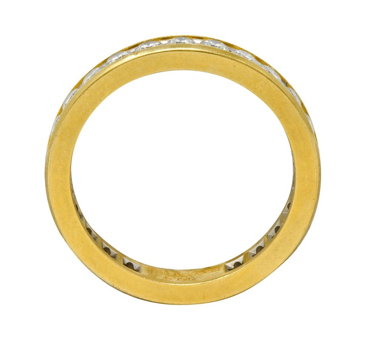 Tiffany & Co. Vintage 1.50 Carat Diamond 18 Karat Gold Eternity Band Ring In Excellent Condition For Sale In Philadelphia, PA