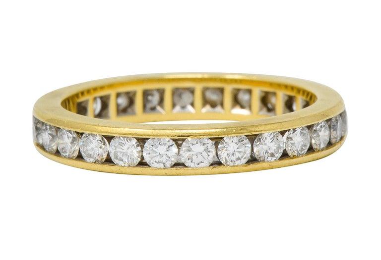 Tiffany & Co. Vintage 1.50 Carat Diamond 18 Karat Gold Eternity Band Ring For Sale 1