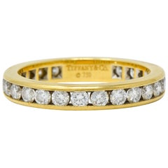 Tiffany & Co. Vintage 1.50 Carat Diamond 18 Karat Gold Eternity Band Ring