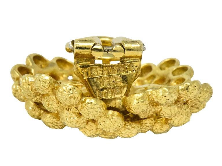 Tiffany & Co. Vintage 18 Karat Gold Cluster Ear-Clip Earrings For Sale 1