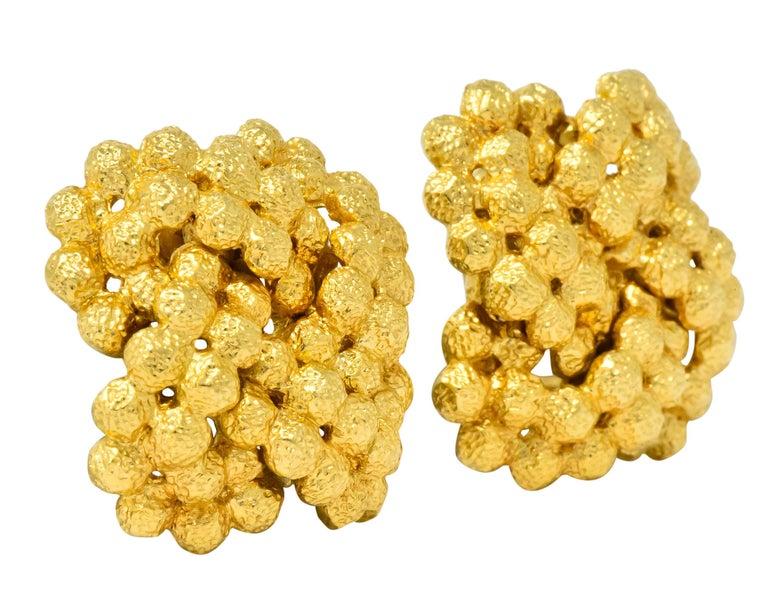 Tiffany & Co. Vintage 18 Karat Gold Cluster Ear-Clip Earrings For Sale 2