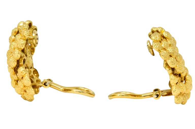 Tiffany & Co. Vintage 18 Karat Gold Cluster Ear-Clip Earrings For Sale 3