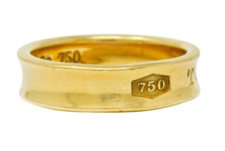 Contemporary Tiffany & Co. Vintage 18 Karat Gold Unisex 1837 Band Ring For Sale